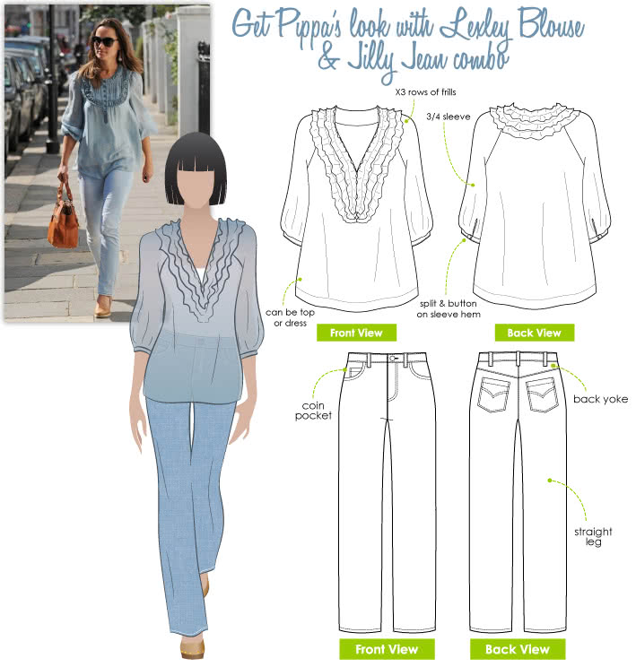 Pippa's Look No.5 Sewing Pattern Bundle By Style Arc