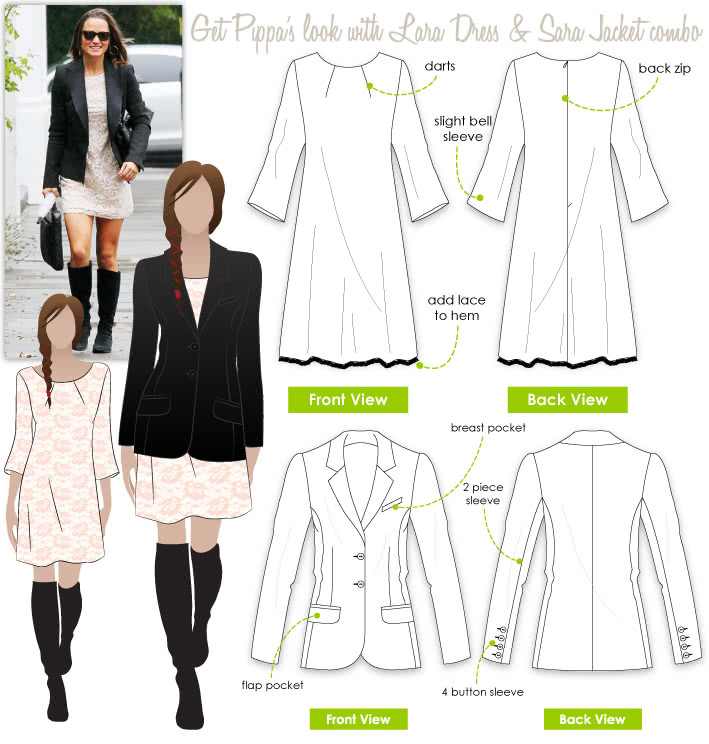Pippa's Look No.6 Sewing Pattern Bundle By Style Arc