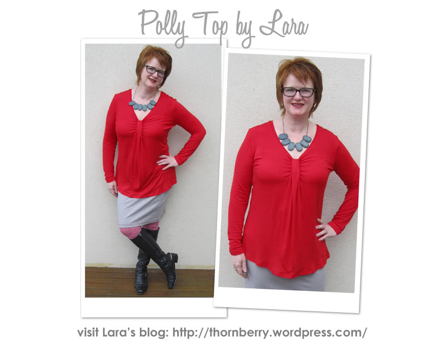 Polly Top Sewing Pattern By Lara And Style Arc - Latest trend double pleat front top