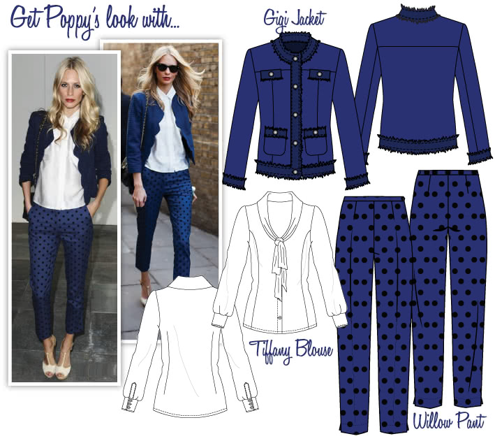 Poppy's Spring Look Sewing Pattern Bundle By Style Arc - Gigi Jacket, Tiffany Blouse, Willow Pants