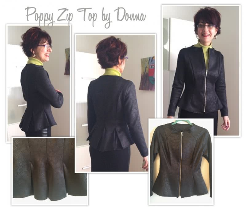 Poppy Zip Front Top Sewing Pattern By Donna And Style Arc