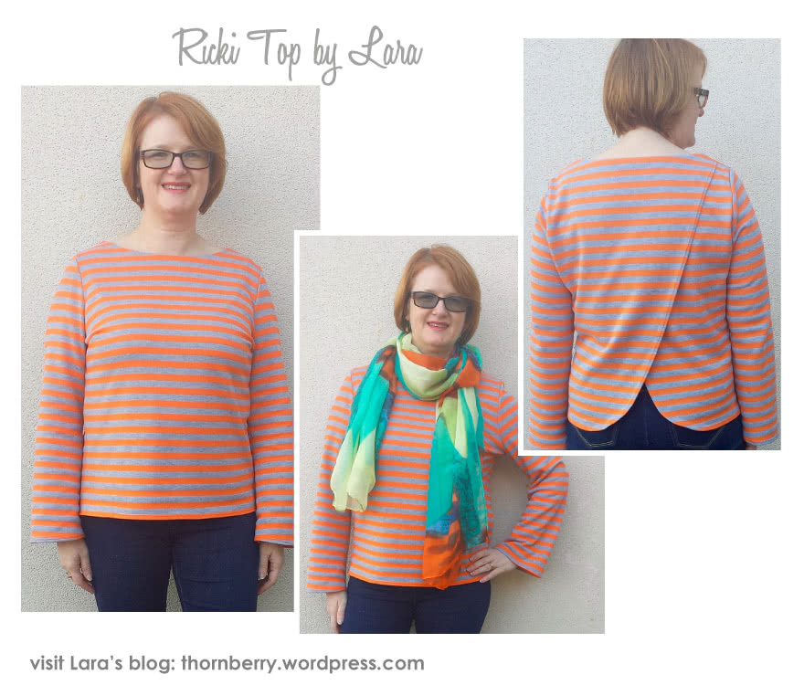 Ricki Top Sewing Pattern By Lara And Style Arc - Boxy back wrap top