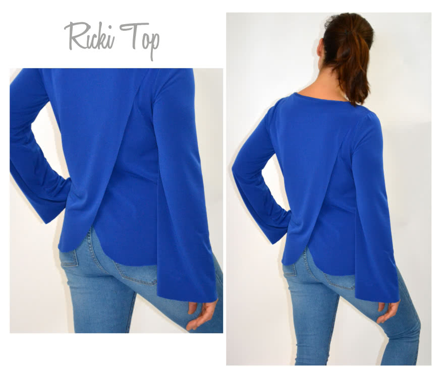 Ricki Top Sewing Pattern By Style Arc - Boxy back wrap top
