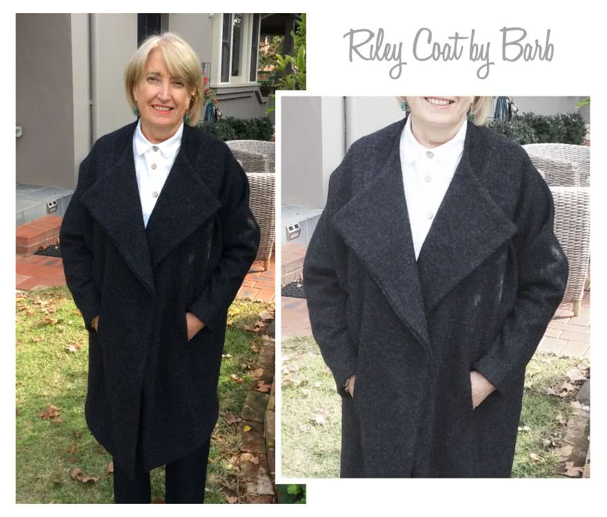 "Riley Coat Sewing Pattern By Barb And Style Arc - ""On-point"" designer coat"