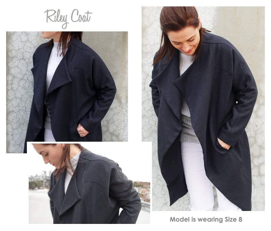 "Riley Coat Sewing Pattern By Style Arc - ""On-point"" designer coat"