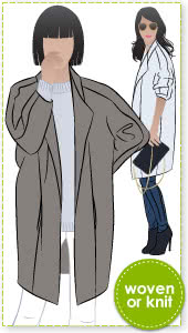 """Riley Coat Sewing Pattern By Style Arc - """"On-point"""" designer coat"""