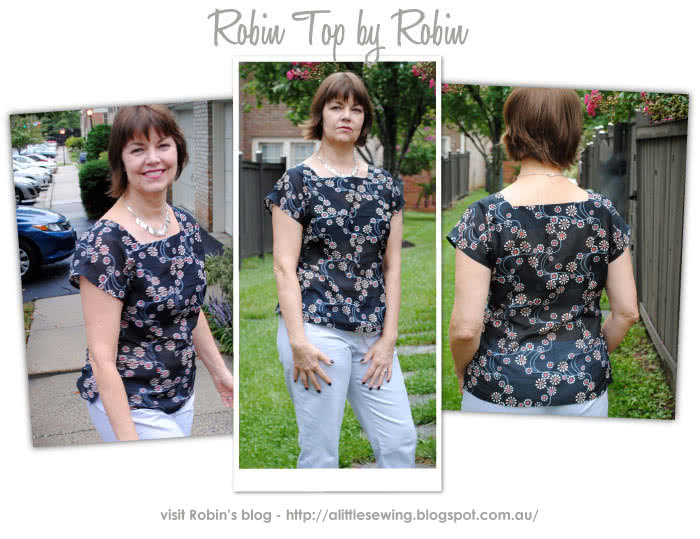 Robin Top Sewing Pattern By Robin And Style Arc - Fitted woven top suitable for all seasons