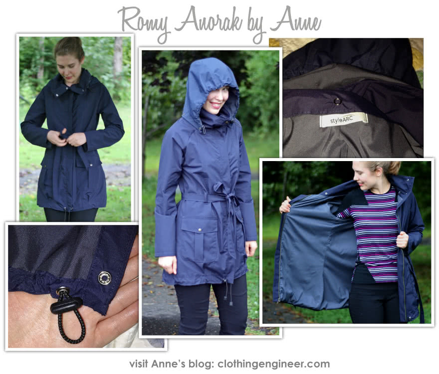 Romy Anorak Sewing Pattern By Anne And Style Arc - Must have casual coat of the season