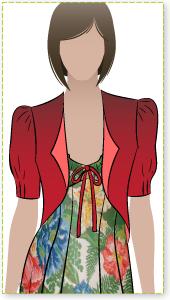 Rosa Jacket Sewing Pattern By Style Arc - Throw over bolero jacket