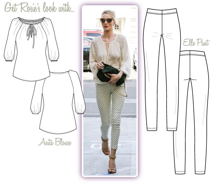 Rosie Look #1 Sewing Pattern Bundle By Style Arc - Rosie Chic Street Look - Anita Blouse & Elle Pant