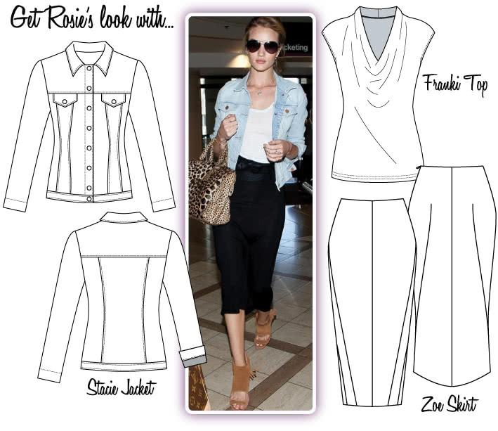 Rosie Look #2 Sewing Pattern Bundle By Style Arc - Angelina's Look No.1 = Stella coat, Elle pant & Emma Top