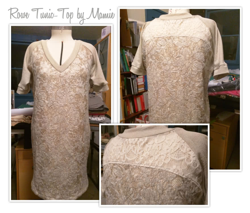 Rowe's Tunic / Top Sewing Pattern By Mamie And Style Arc - Knit raglan tunic/top with interesting design features