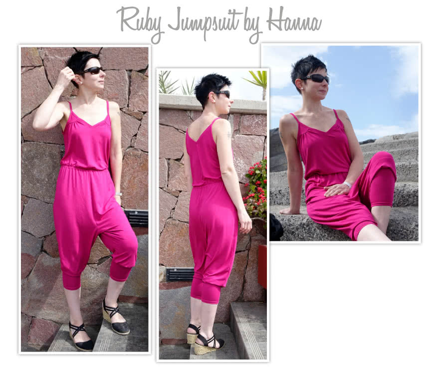 Ruby Jumpsuit Sewing Pattern By Hanna And Style Arc - Harem style pant all-in-one jumpsuit pattern