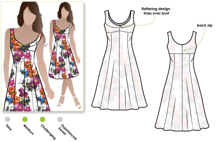 Sabrina Dress Sewing Pattern By Style Arc - Vintage style sundress