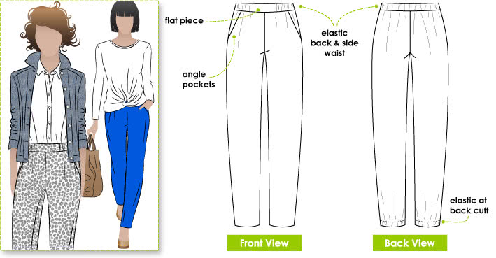 Lola Pant Sewing Pattern - Style Arc