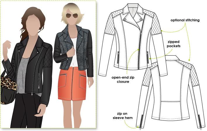 Ziggi Biker Jacket - Style Arc sewing patterns