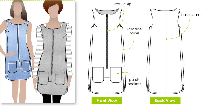 Shift Dress Pattern - Style Arc Jodie Dress