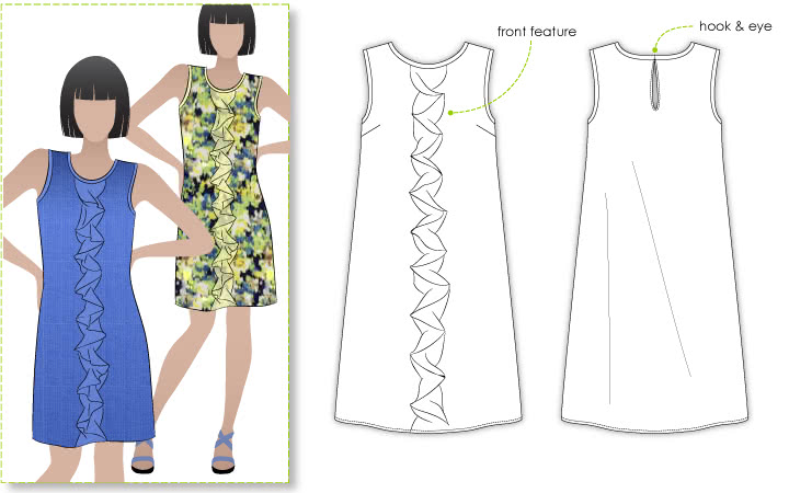 Shift Dress Pattern - Style Arc Martine Dress