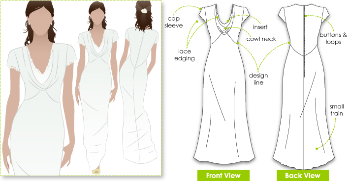 Pippa's Dress Sewing Pattern By Style Arc - Pippa's bridesmates dress from the Royal wedding