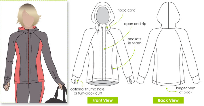 Sunday Zip Jacket Sewing Pattern Jacket Vest Coat Patterns