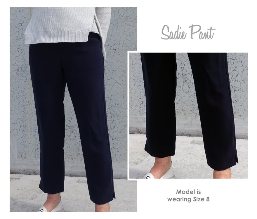 Sadie Pant Sewing Pattern By Style Arc - New elastic waist, ankle length, pull-on pant with tapered leg