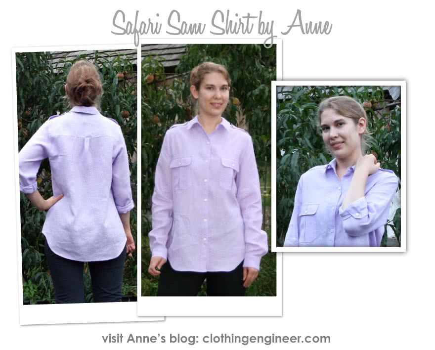 Safari Sam Overshirt Sewing Pattern By Anne And Style Arc - Safari-style shirt with roll-up sleeve