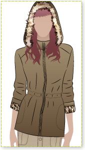 Safari Jane Jacket Sewing Pattern By Style Arc - Safari-style inspired hooded jacket