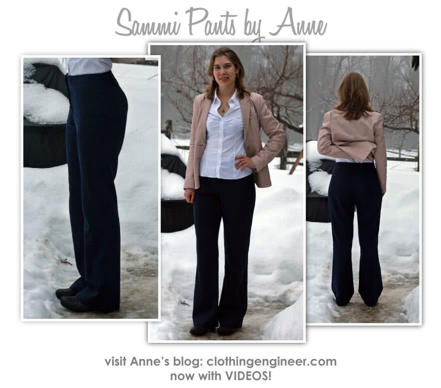 Sammi Woven Pant Sewing Pattern By Anne And Style Arc - Basic woven pant with slight bootleg, for the office or the weekend