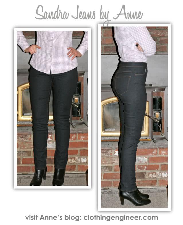 Sandra Narrow Leg Jean Sewing Pattern By Anne And Style Arc - Fashionable narrow leg woven jean