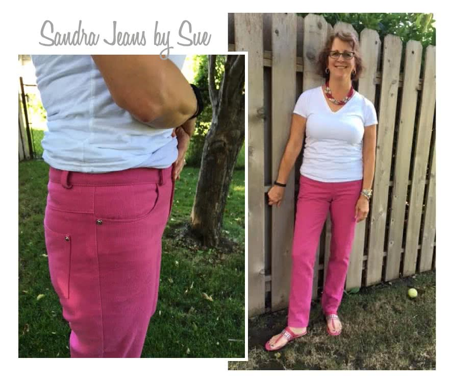 Sandra Narrow Leg Jean Sewing Pattern By Sue And Style Arc