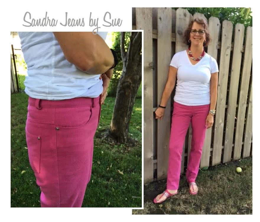 Sandra Narrow Leg Jean Sewing Pattern By Sue And Style Arc - Fashionable narrow leg woven jean