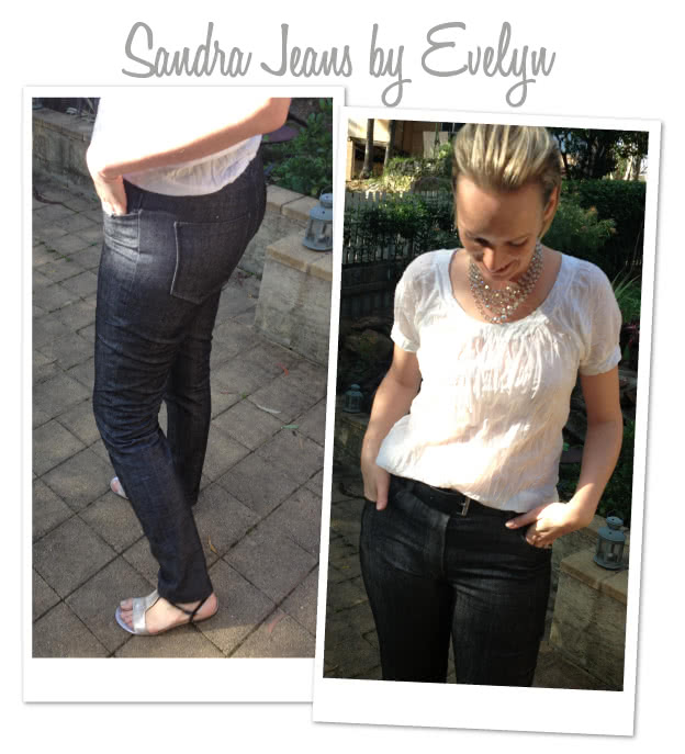 Sandra Narrow Leg Jean Sewing Pattern By Evelyn And Style Arc - Fashionable narrow leg woven jean