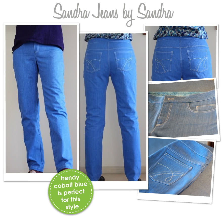 Sandra Narrow Leg Jean Sewing Pattern By Sandra And Style Arc - Fashionable narrow leg woven jean
