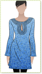 Sandy Top Sewing Pattern By Style Arc - Great easy to wear kaftan