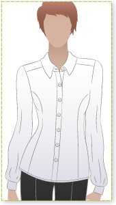 Sara Blouse Sewing Pattern By Style Arc - Fitting princess line shirt for casual or office look