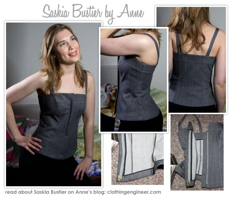 Saskia Woven Bustier Sewing Pattern By Anne And Style Arc - Fully lined fitted bustier with concealed zip front
