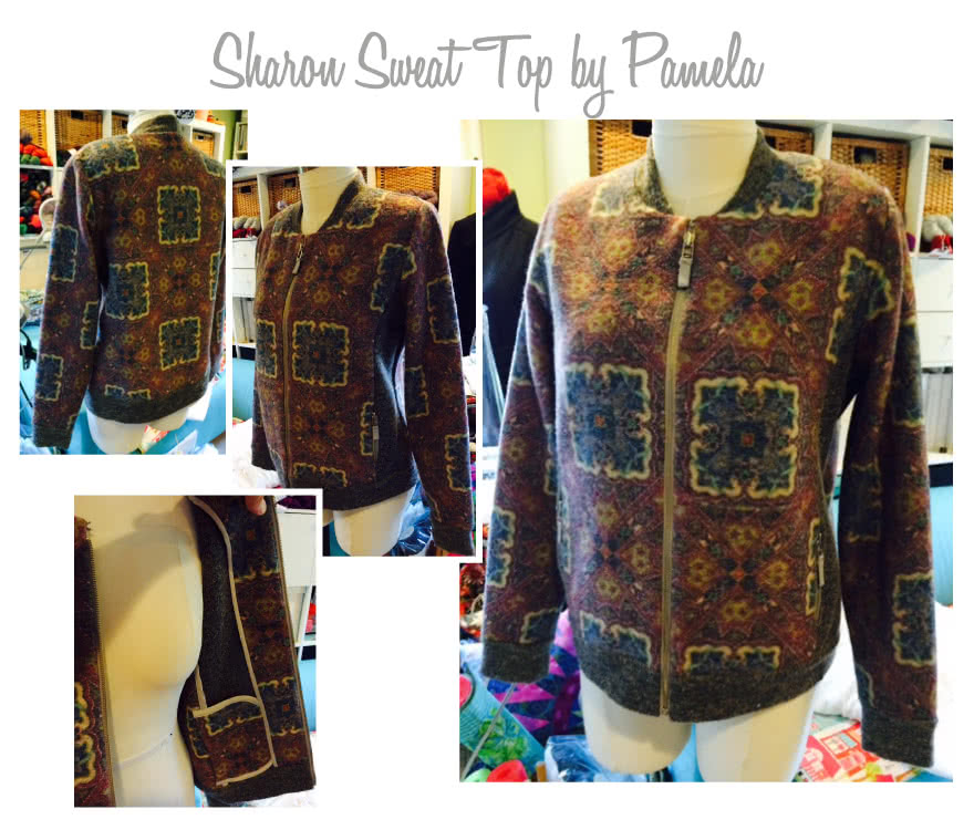 Sharon Sweat Top Sewing Pattern By Pamela And Style Arc - Classic zip-front sweat top with rib detail