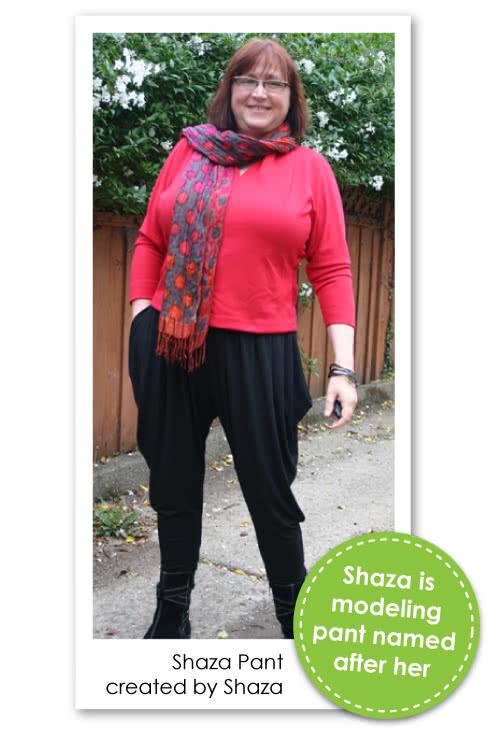 Shaza Jersey Pant Sewing Pattern By Shaza And Style Arc - Stylish elastic waist pant with soft pleats