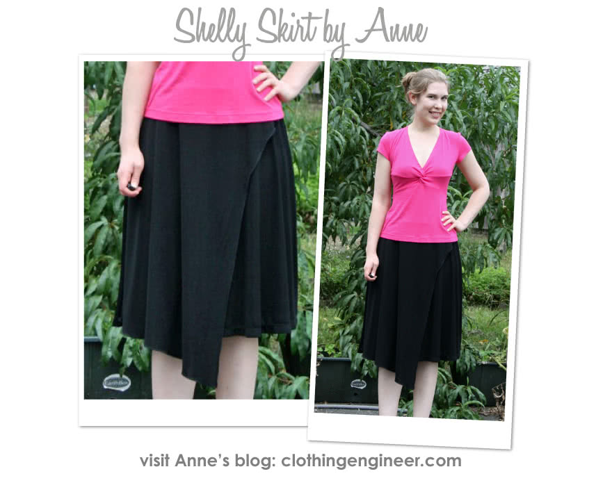 Shelly Skirt Sewing Pattern By Anne And Style Arc - Knit skirt with wrap asymmetrical front