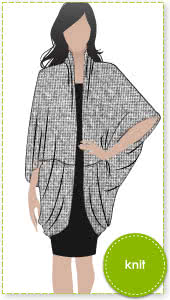 Shirley Shrug Sewing Pattern By Style Arc - This is the essential throw on wrap