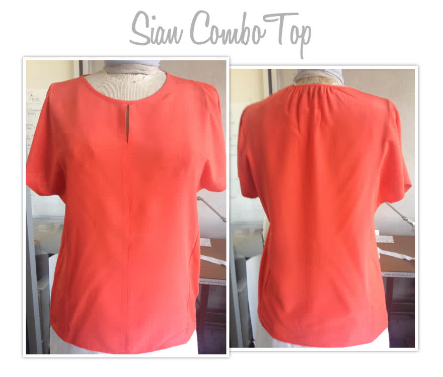 Sian Combo Top Sewing Pattern By Style Arc - Versatile over top in knit or woven fabric