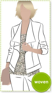 Sienna Woven Jacket Sewing Pattern By Style Arc - Stylish and simplistic unlined jacket