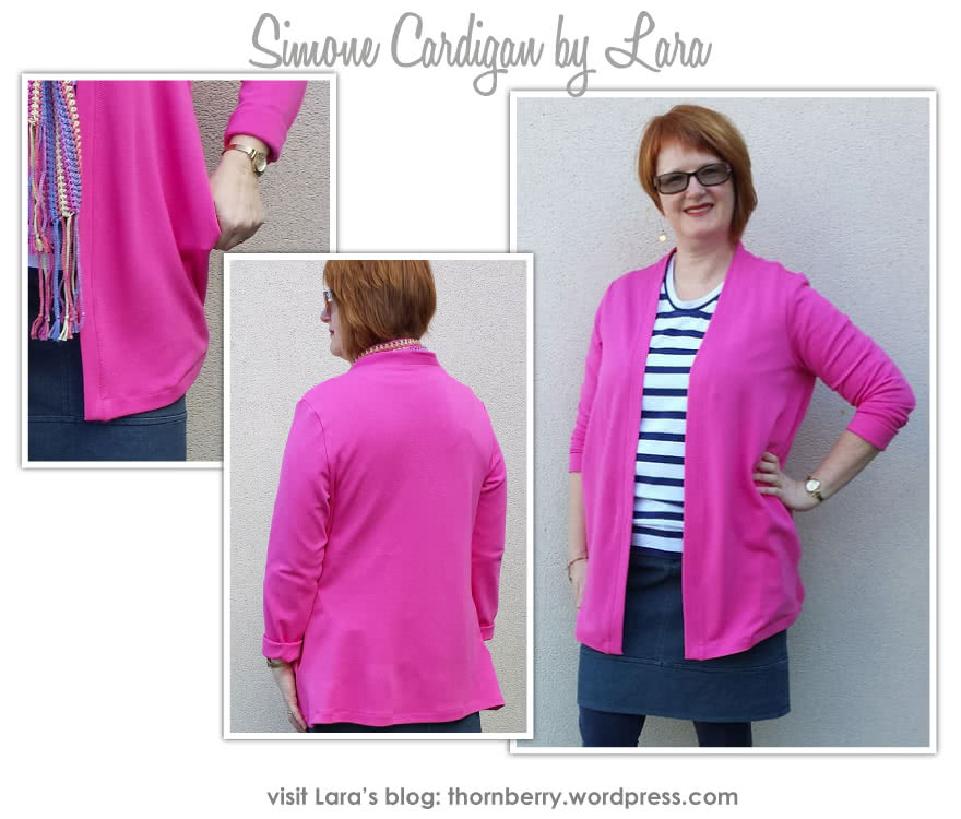 Simone Knit Cardigan Sewing Pattern By Lara And Style Arc - Versatile drape pocket cardigan