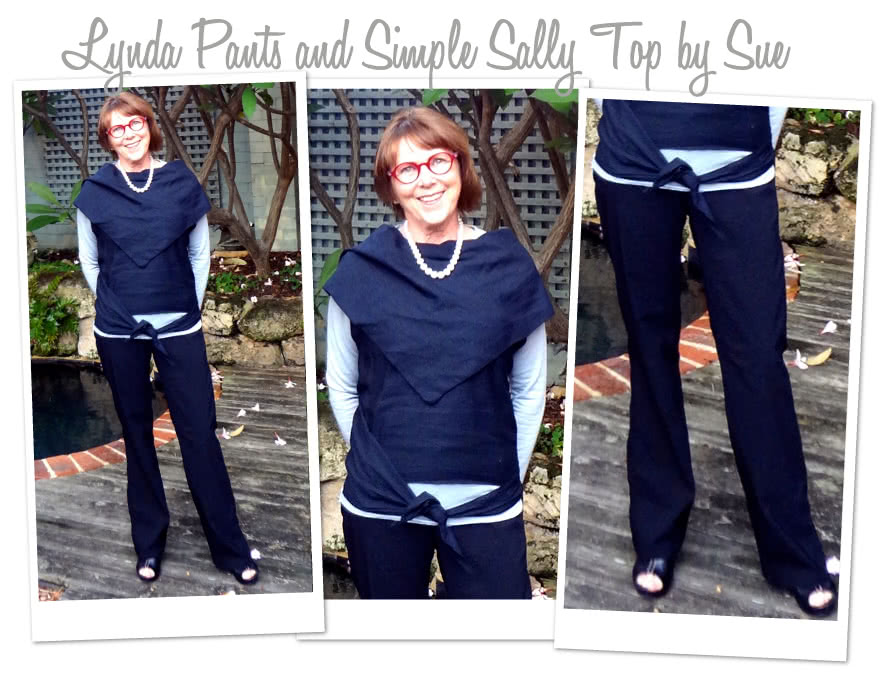 Simply Sally Top Sewing Pattern By Sue And Style Arc - Wonderfully versatile top that can be worn different ways
