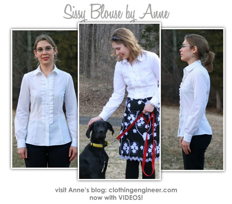Sissy Blouse Sewing Pattern By Anne And Style Arc - Pretty frill front blouse with back yoke