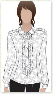 Sissy Blouse Sewing Pattern By Style Arc - Pretty frill front blouse with back yoke