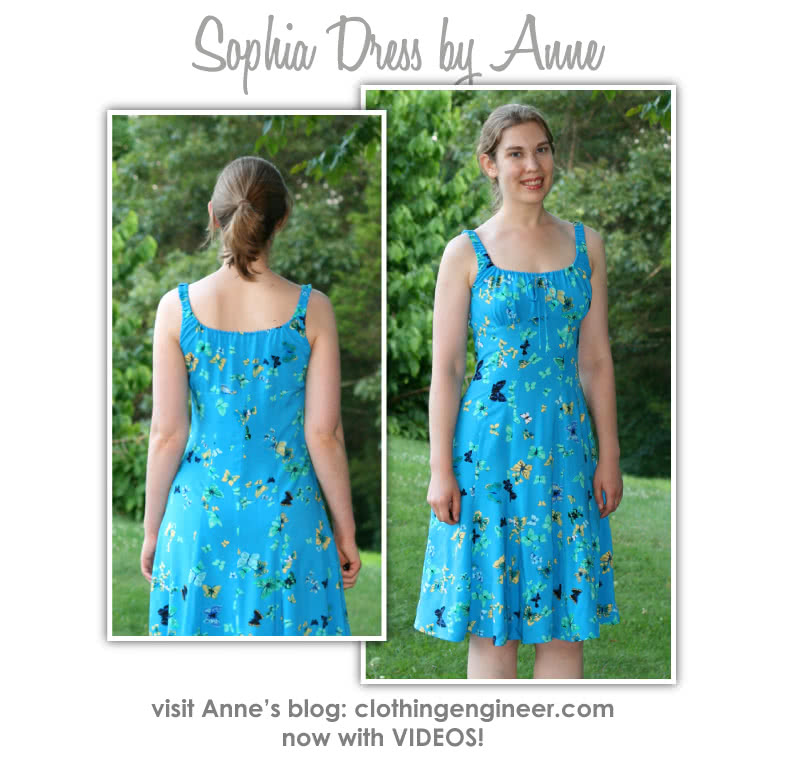 Sophia Dress Sewing Pattern By Anne And Style Arc - Lovely summer dress with peasant bodice