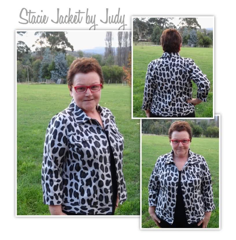 Stacie Jean Jacket Sewing Pattern By Style Arc - Trendy jean, denim or woven jacket