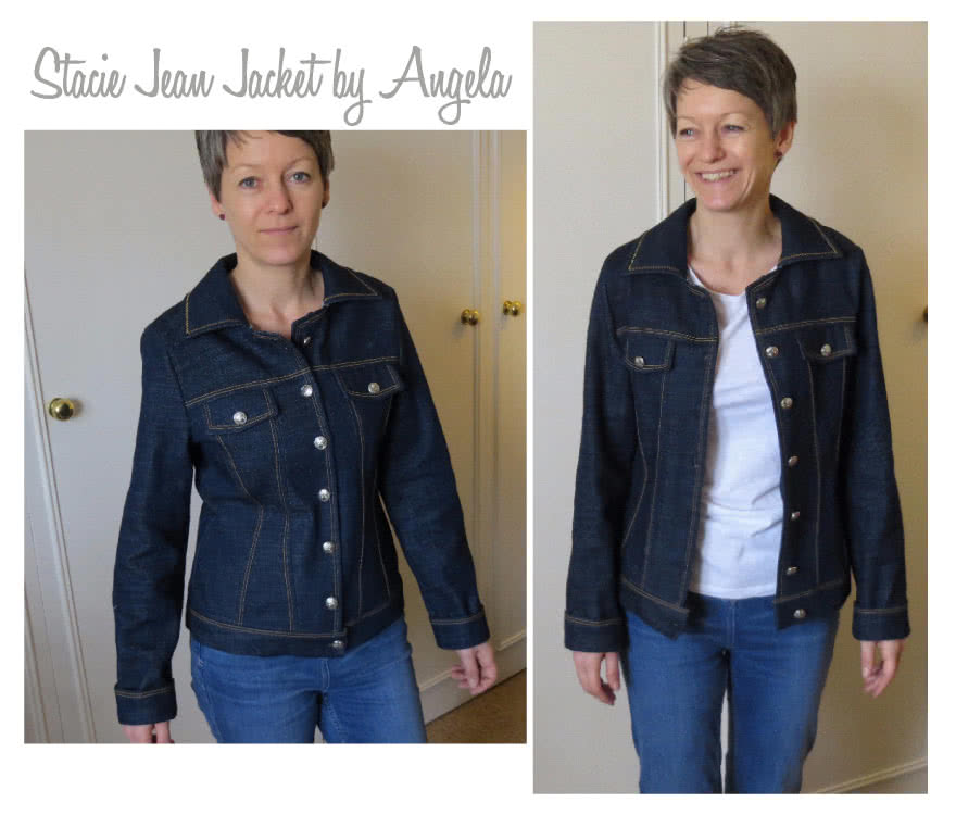 Stacie Jean Jacket Sewing Pattern By Angela And Style Arc - Trendy jean, denim or woven jacket
