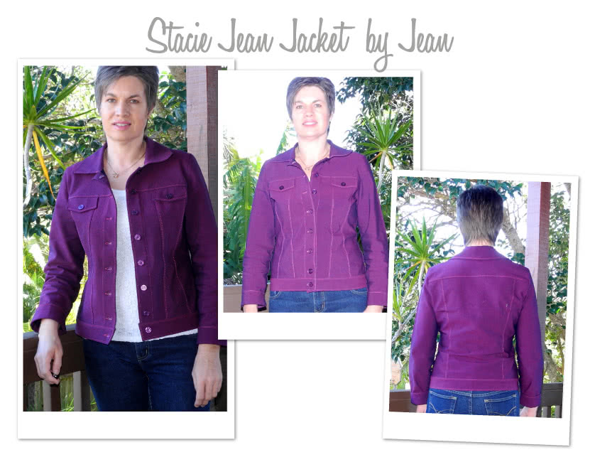 Stacie Jean Jacket Sewing Pattern By Jean And Style Arc - Trendy jean, denim or woven jacket